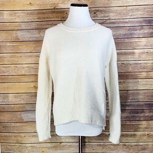 Madewell Cream Texturework Crewneck Sweater